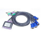 ATEN Petite KVM Switch mit Audio, PS/2, 2-fach
