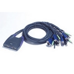 ATEN Petite KVM Switch mit Audio, USB, 2-fach