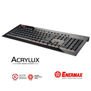 Enermax acrylux design tastatur schwarz kb009u b pc for Design versandhandel
