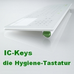 IC-Keys Glastastatur Hygienetastatur wireless