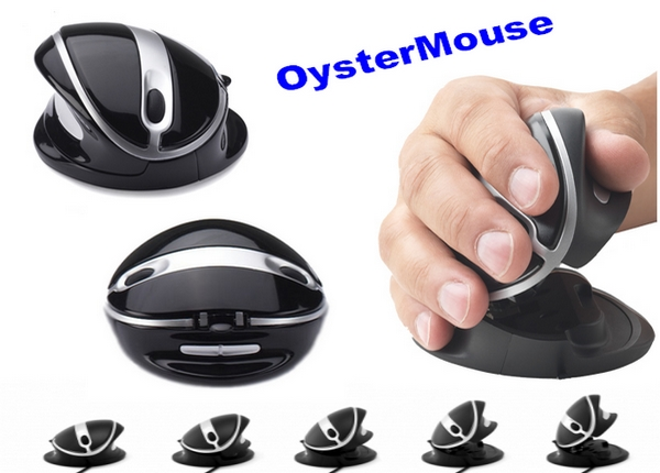 oyster mouse oystermouse ergonomische maus wireless pc. Black Bedroom Furniture Sets. Home Design Ideas