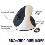 Ergonomicc Comfi Mouse 2,4 Ghz white/black